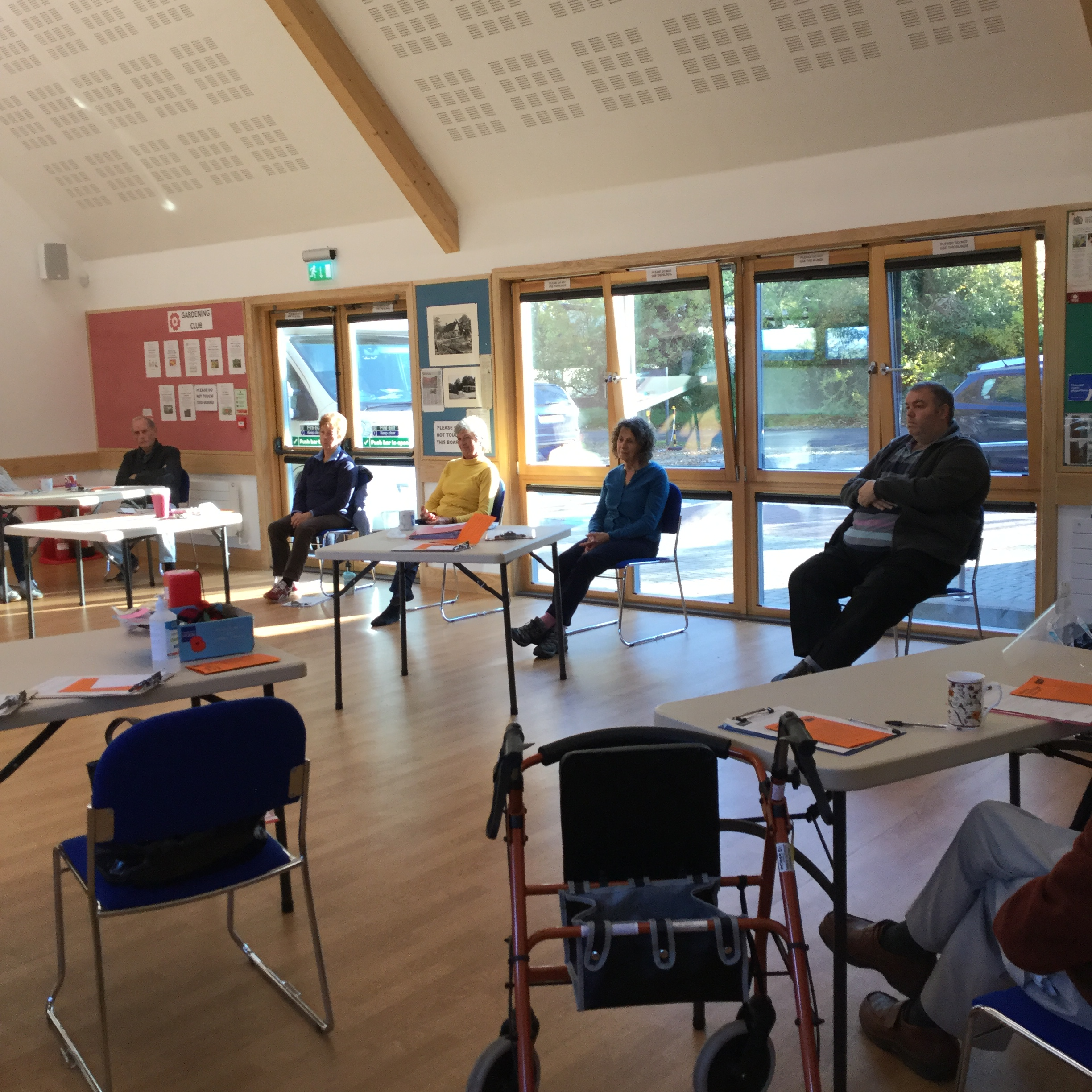 The participants in the session contributed to an Alphabet Poem about all the things that make Westhorpe special